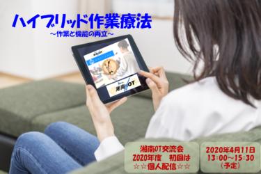 湘南OT交流会オンラインセミナー「ハイブリッド作業療法 ~作業と機能の両立~」